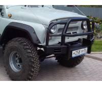 """Бампер передний на УАЗ 469 """"Таран"""" с кенгурином"""