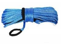 Трос для лебедки синтетический 10мм*28 метров (синий) 4712