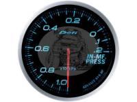 Датчик давления во впускном коллекторе (вакуумный манометр) 60 мм, синяя подсветка (выносной)