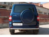 Защита заднего бампера D63 (дуга) на УАЗ Патриот с 2014г.